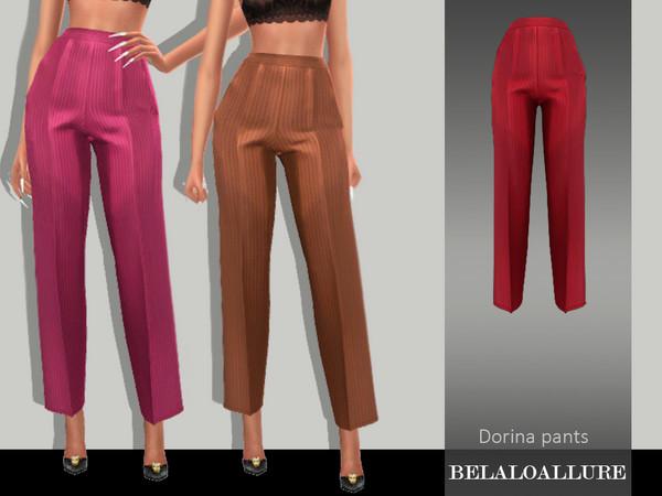 Sims 4 Belaloallure Dorina pants by belal1997 at TSR