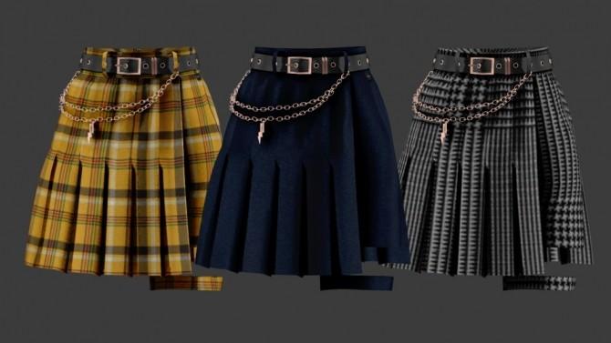 Sims 4 Unbal Garter Skirt Pants at SHENDORI SIMS
