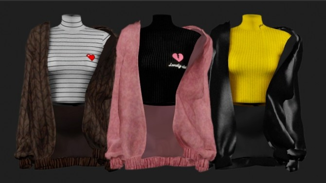 Sims 4 Turtleneck & jacket at SHENDORI SIMS