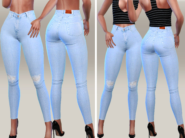 Denim Skinny Jeans 059 by Pinkzombiecupcakes at TSR image 2106 Sims 4 Updates
