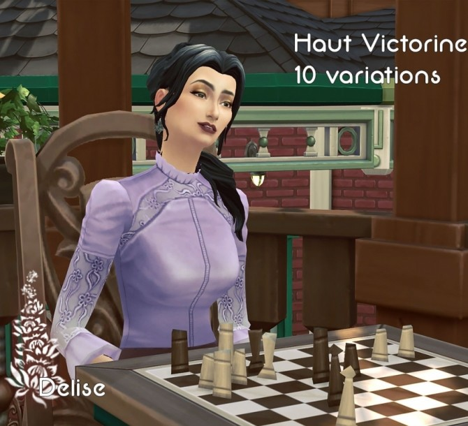 Victorian blouse by Delise at Sims Artists image 2107 670x610 Sims 4 Updates