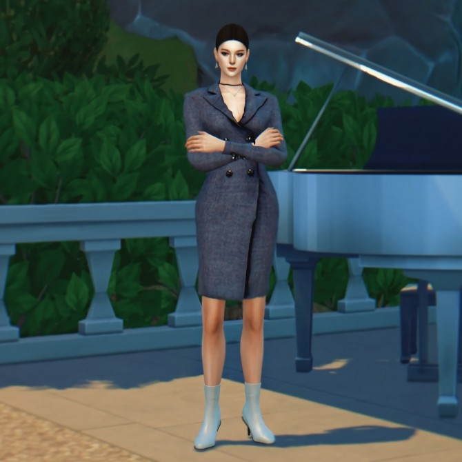 Sims 4 Coat dress at SHENDORI SIMS