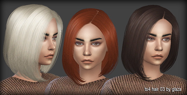 Hair 03 at All by Glaza image 21111 Sims 4 Updates