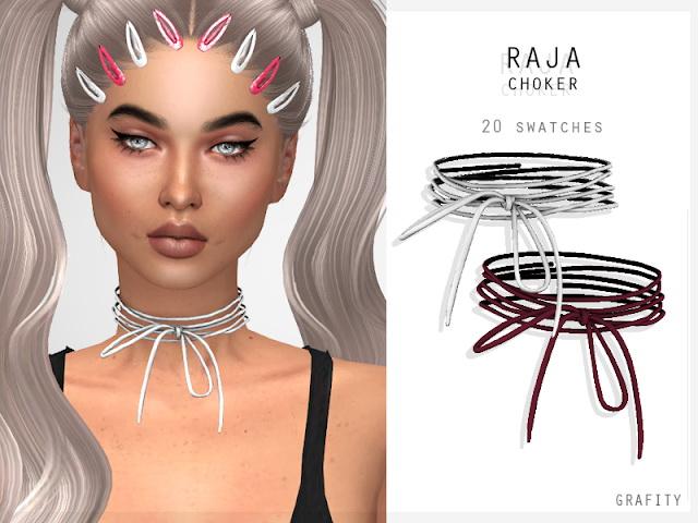 Sims 4 RAJA CHOKER (P) at Grafity cc