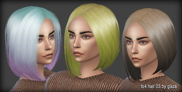 Hair 03 at All by Glaza image 21210 Sims 4 Updates