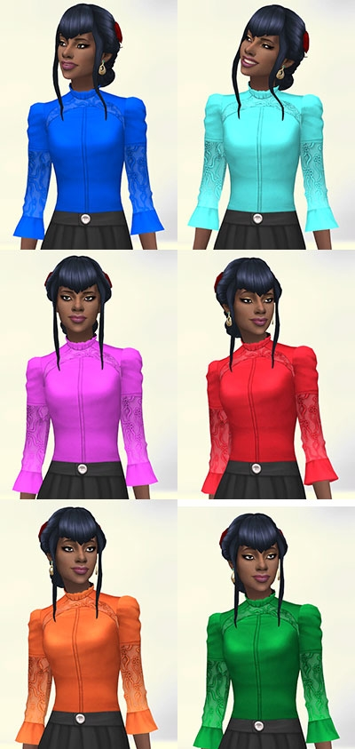 Sims 4 Victorian blouse by Delise at Sims Artists