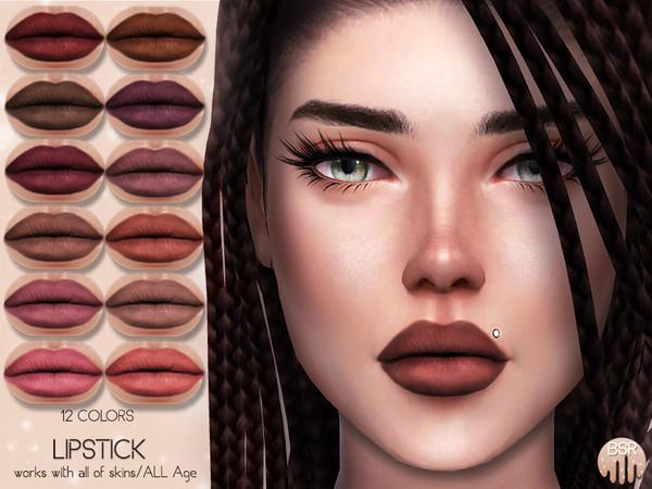 Sims 4 Matte Lipstick BM09 by busra tr at TSR