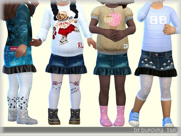 Sims 4 Skirt Denim by bukovka at TSR