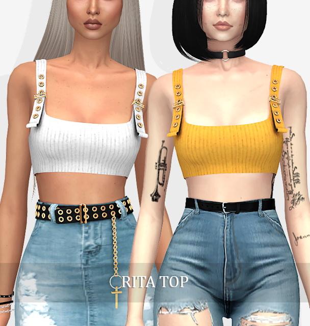 Sims 4 RITA TOP (P) at Grafity cc