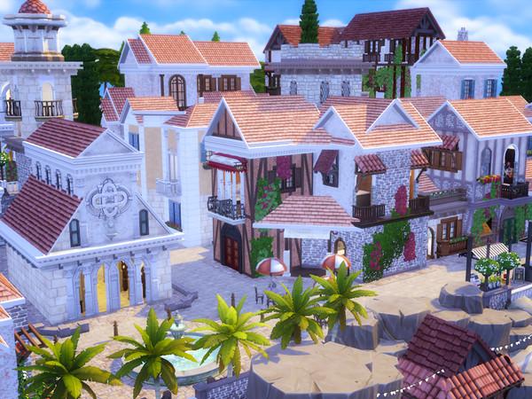 Italian Beach Village by kaibellvert at TSR image 2140 Sims 4 Updates