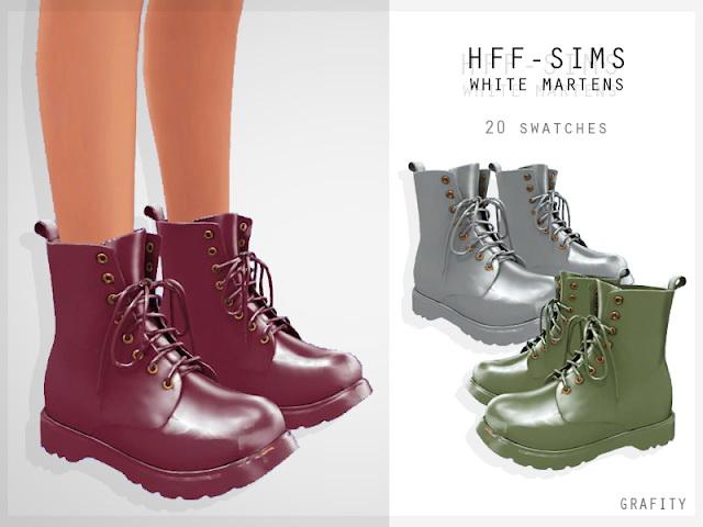 Sims 4 HFF SIMS WHITE MARTENS at Grafity cc
