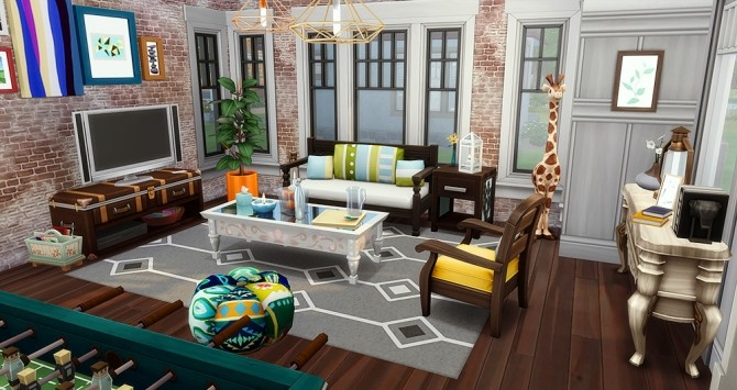 Sims 4 Squeezed orange house at Simsontherope
