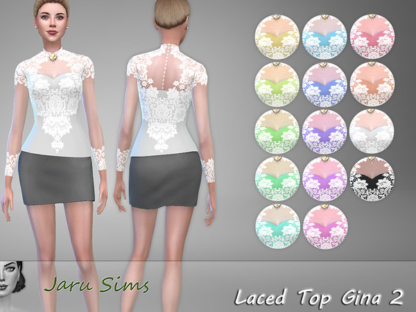 Laced Top Gina 2 by Jaru Sims at TSR image 2157 Sims 4 Updates