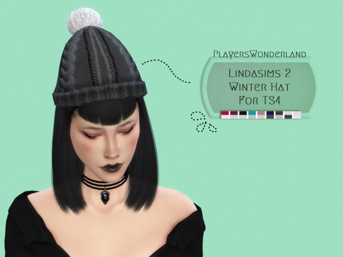Sims 4 Lindasims2 winter hat conversion at PW's Creations