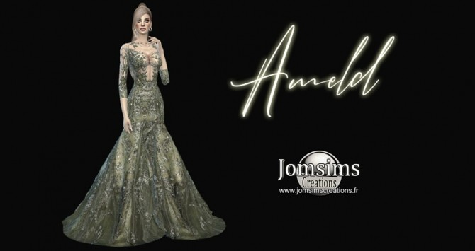 Sims 4 Ameld dress at Jomsims Creations