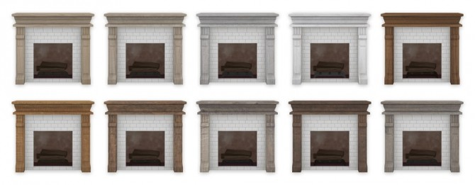 Sims 4 Brick Fireplace at SimPlistic