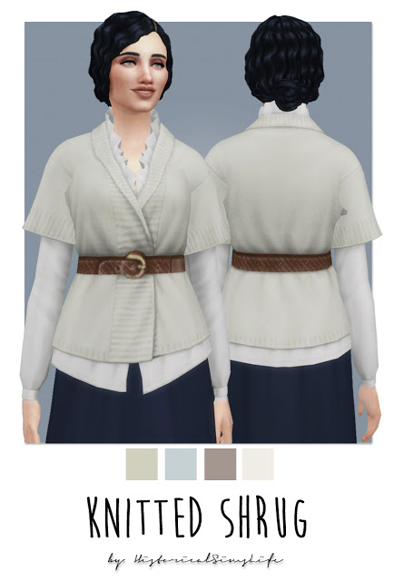 Knitted Shrug at Historical Sims Life image 2205 Sims 4 Updates