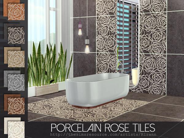 Porcelain Rose Tiles by Rirann at TSR image 2226 Sims 4 Updates