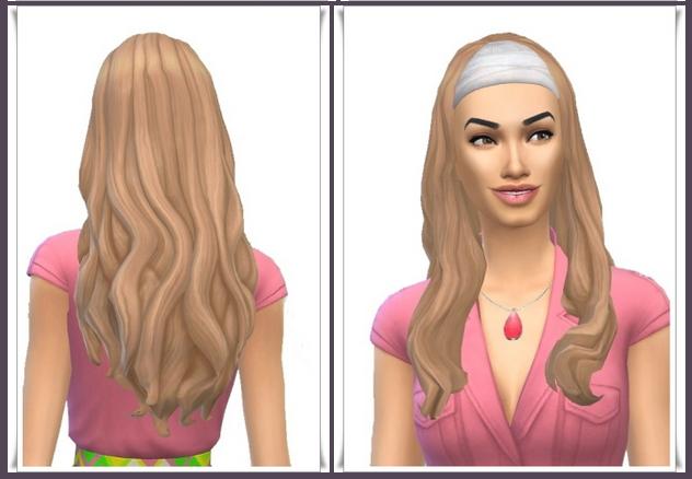 Sims 4 Bandana Long Waves female hair at Birksches Sims Blog