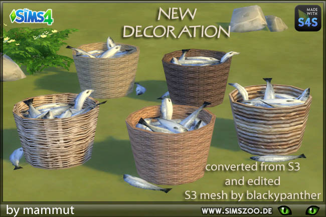 Sims 4 Fish basket by mammut at Blacky's Sims Zoo