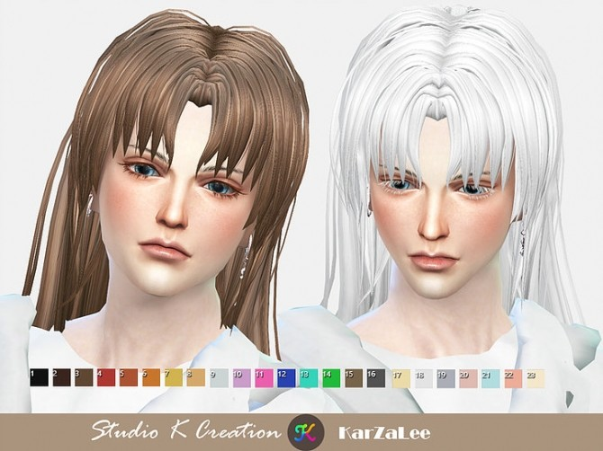 Animate hair 20 Sesshomaru renewal at Studio K Creation image 2304 670x502 Sims 4 Updates