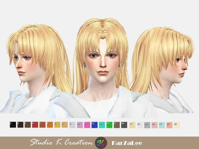 Animate hair 20 Sesshomaru renewal at Studio K Creation image 23111 670x502 Sims 4 Updates