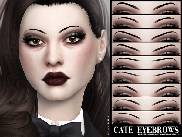 Cate Eyebrows N143 by Pralinesims at TSR image 2314 Sims 4 Updates