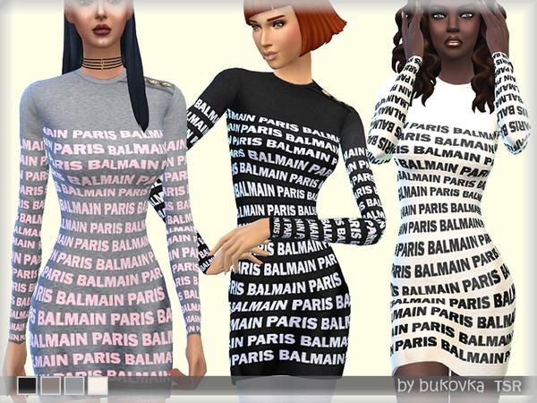 Sims 4 Dress Balm by bukovka at TSR