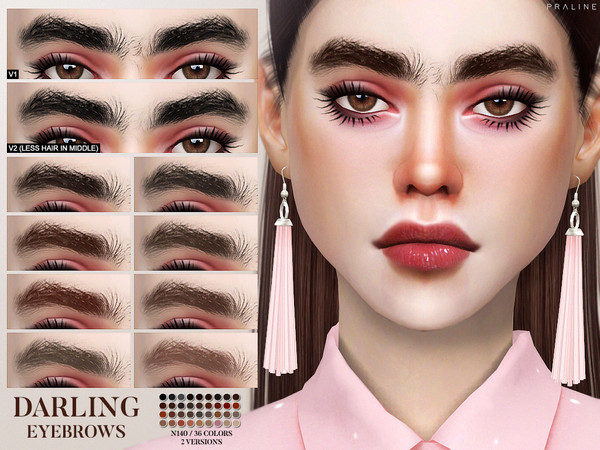 Darling Eyebrows N140 by Pralinesims at TSR image 2316 Sims 4 Updates