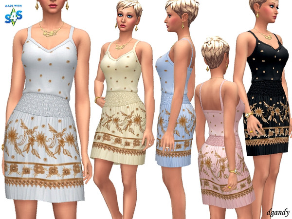 Dress H201901 8 by dgandy at TSR image 2317 Sims 4 Updates