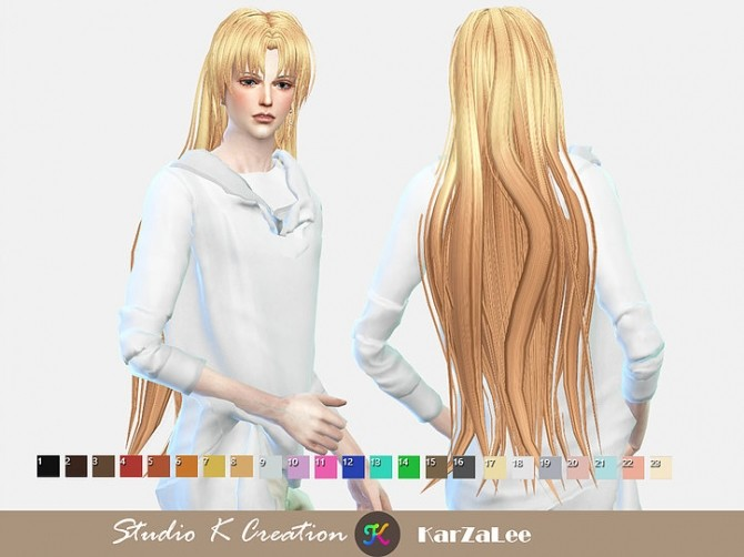 Animate hair 20 Sesshomaru renewal at Studio K Creation image 23210 670x502 Sims 4 Updates