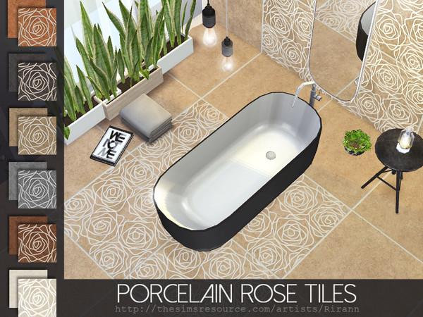 Porcelain Rose Tiles by Rirann at TSR image 2328 Sims 4 Updates
