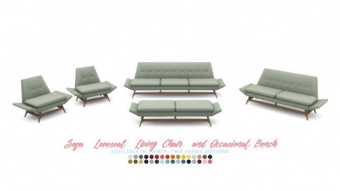 Vice Sofa Series Mid Century Inspired Seating at Simsational Designs image 2332 670x377 Sims 4 Updates