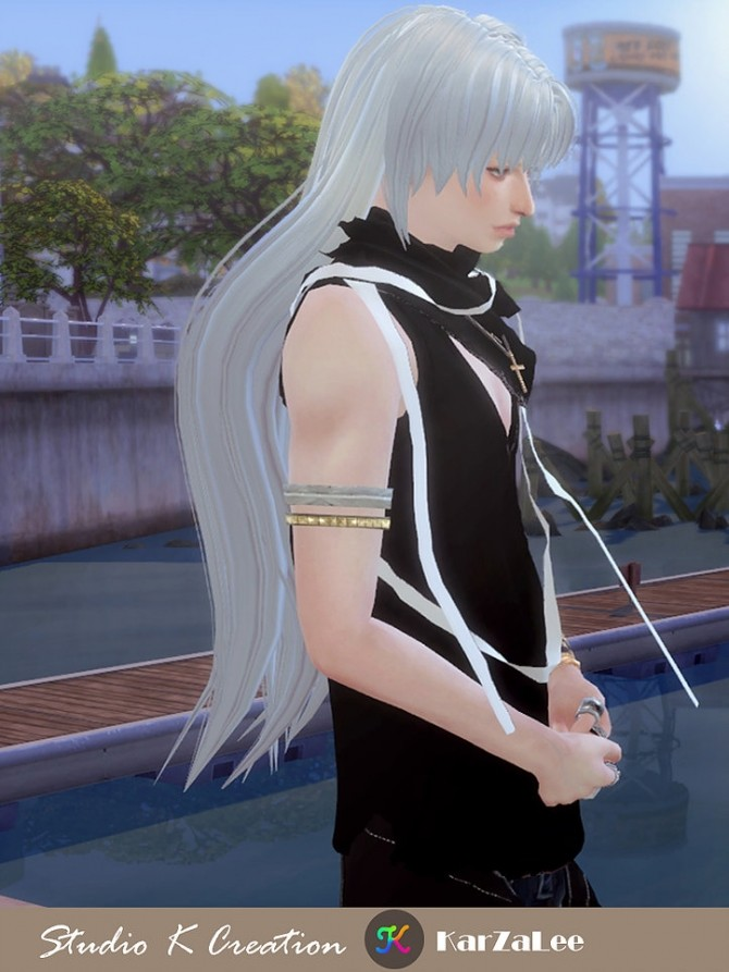 Animate hair 20 Sesshomaru renewal at Studio K Creation image 2334 670x893 Sims 4 Updates