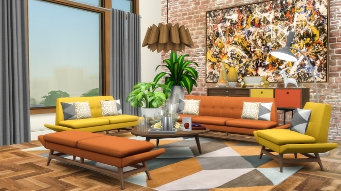 Vice Sofa Series Mid Century Inspired Seating at Simsational Designs image 2342 670x377 Sims 4 Updates