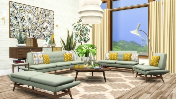 Vice Sofa Series Mid Century Inspired Seating at Simsational Designs image 2352 670x377 Sims 4 Updates