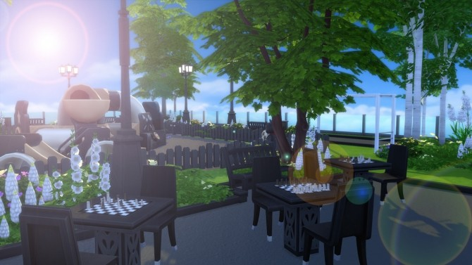 Sims 4 Rooftop Park at Anna Frost