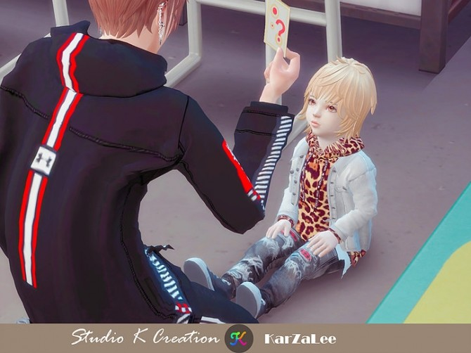 Jeans Jacket hoodie top toddler at Studio K Creation image 2364 670x502 Sims 4 Updates