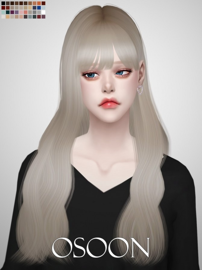 Female Hair 06 At Osoon 187 Sims 4 Updates