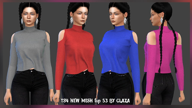 Sims 4 Top 53 at All by Glaza