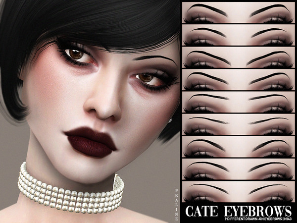 Sims 4 Cate Eyebrows N143 by Pralinesims at TSR