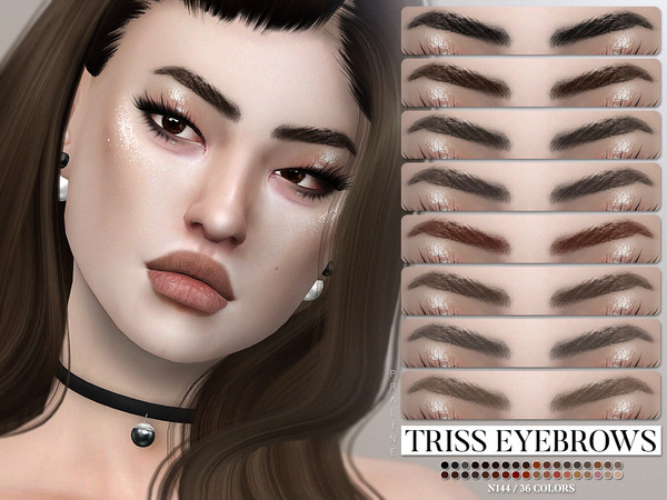 Sims 4 Triss Eyebrows N144 by Pralinesims at TSR