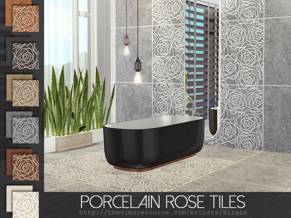 Porcelain Rose Tiles by Rirann at TSR image 2428 Sims 4 Updates