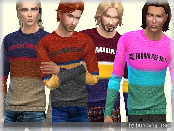 Sims 4 California Republic sweater M by bukovka at TSR