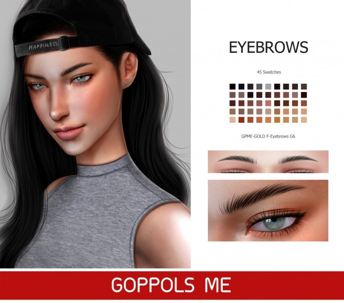 Sims 4 GPME F Eyebrows G6 at GOPPOLS Me