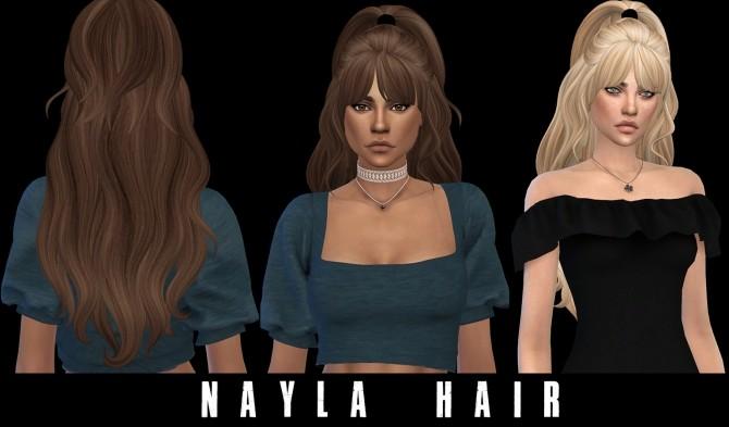 Sims 4 Nayla Hair at Leo Sims
