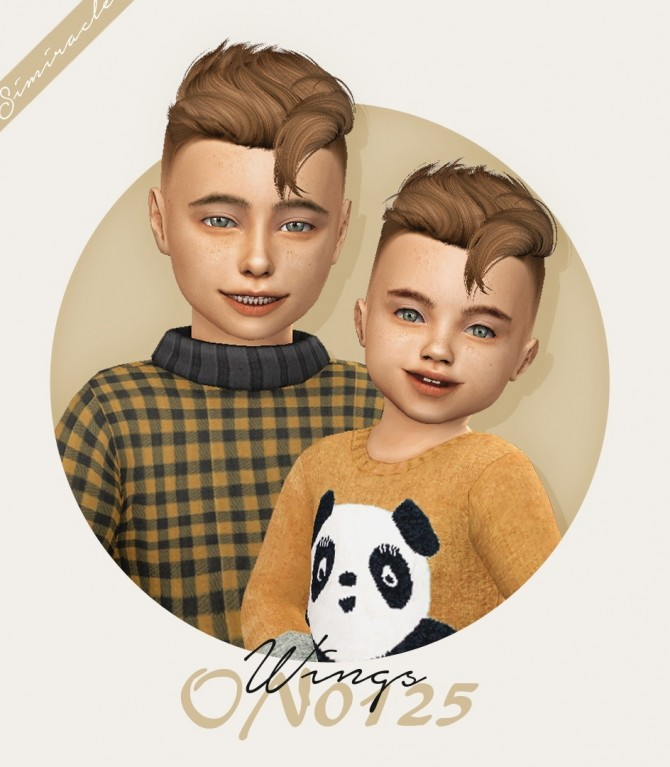 Wings ON0125 hair for kids and toddlers at Simiracle image 2473 670x767 Sims 4 Updates