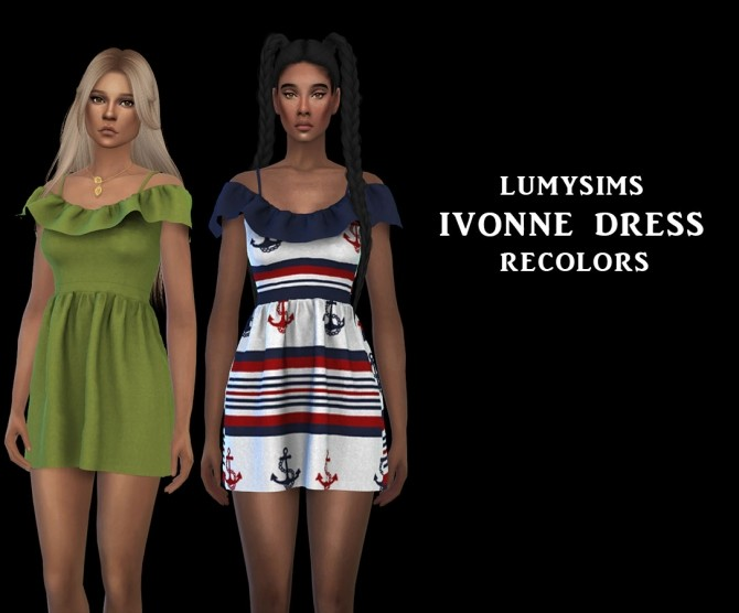 Ivonne Dress at Leo Sims image 2481 670x556 Sims 4 Updates