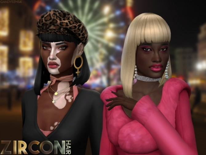 ZIRCON HAIR (P) at Candy Sims 4 image 2491 670x503 Sims 4 Updates