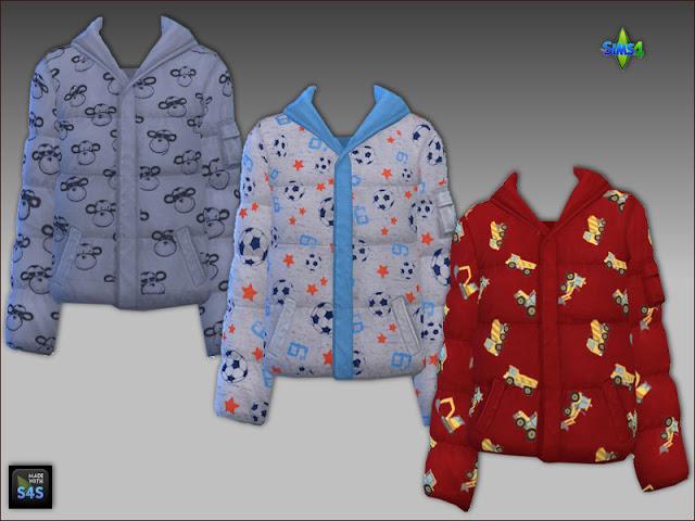 Sims 4 Winter jackets and hats for boys by Mabra at Arte Della Vita